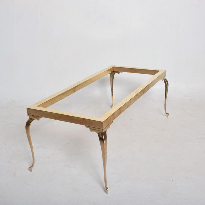 Mid Century Modern Brass Coffee Table After Master Craft by AMBIANIC