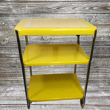Vintage Cosco Electric 3 Tier Utility Table, Metal Kitchen Rolling Cart, Industrial Home Mid Century Portable Service Bar, Vintage Furniture by AGoGoVintage