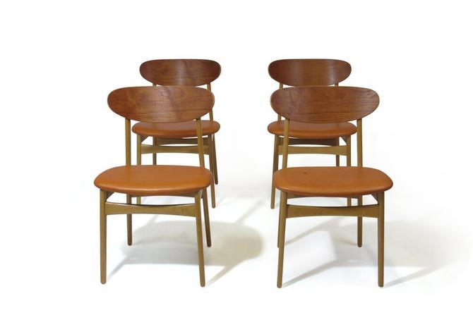 Mid Century Oak & Teak Dining Chairs