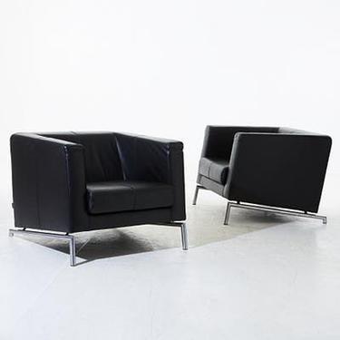 Vintage Leather Montis Chair by Gerard van den Berg Dutch Danish Modern Contemporary Kubik Iconic Design by CaribeCasualShop