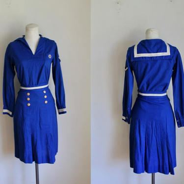 Vintage 1930s Official Girl Scout Mariner Uniform / XS by MsTips