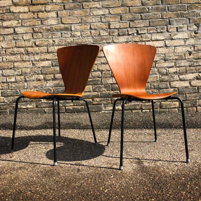 Molded Teak Chairs Made In Denmark