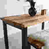 Modern Industrial Dining Table / Steel Post Legs + Butcher Block Kitchen Table by wwmake