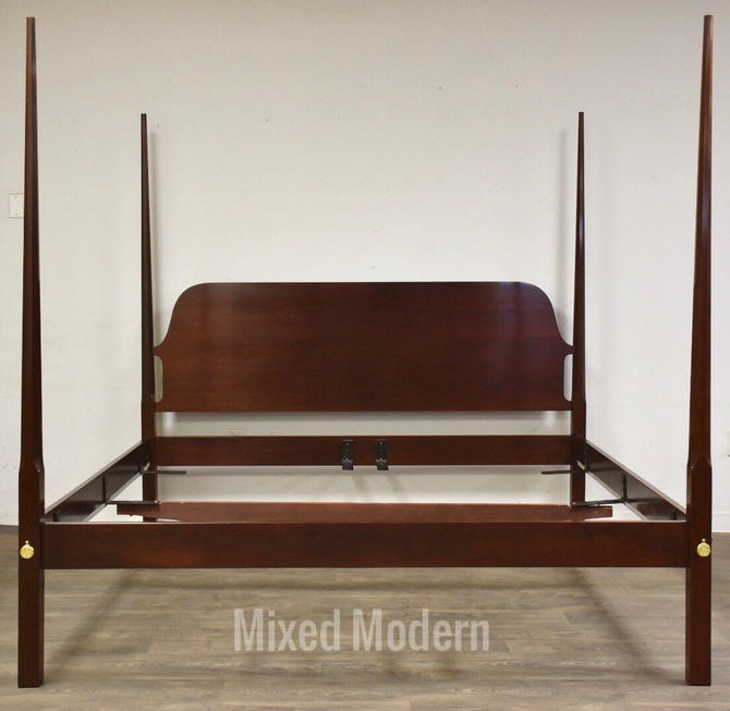 Solid Mahogany Pencil Post King Bed by Councill by mixedmodern1
