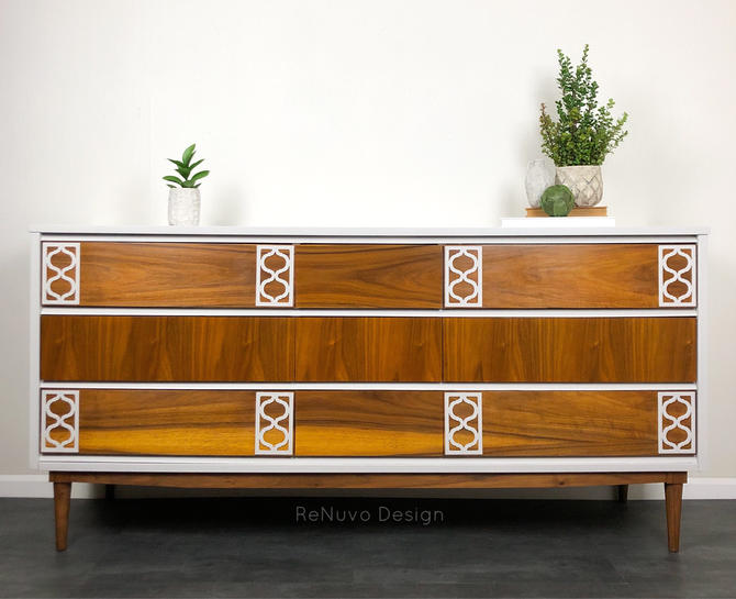 SAMPLE. SOLD. Mid Century Modern Dressers by ReNuvoDesign