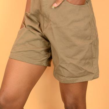 Vintage Taupe Tan High Rise Denim Shorts by MAWSUPPLY