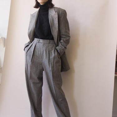 1984 Ralph Lauren Cashmere Pinstripe Double Breasted Suit by waywardcollection