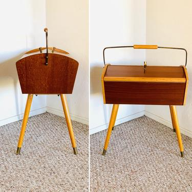 Mid Century Danish Sewing Box Table by dadacat