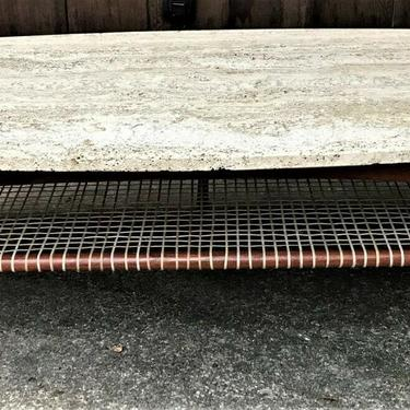 Mid Century Dux of Sweden travertine Coffee table attributed to Bruno Mathsson