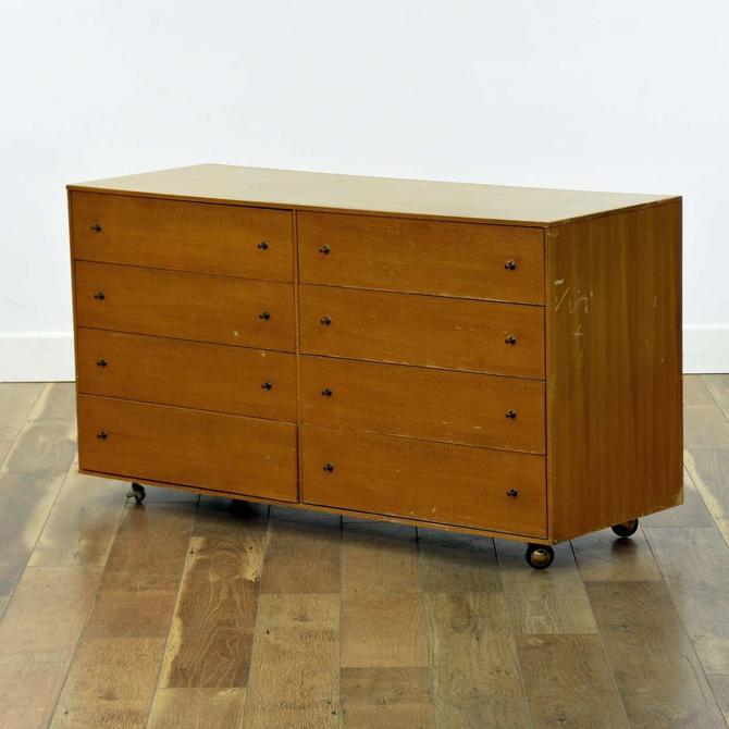 Johnson Carper Mid Century Modern Dresser W Casters