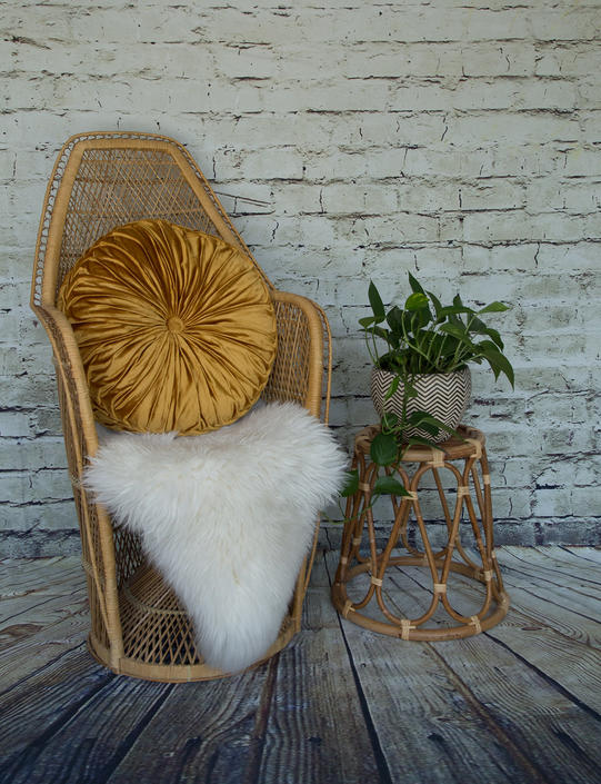 SHIPPING NOT FREE! Medium Size Vintage Wicker Peacock Chair/ Child Peacock Chair by WorldofWicker
