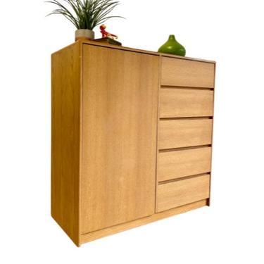 SIMPLE + Clean Mid Century Modern Danish OAK Gentlemen's CHEST / Armoire / Dresser by CIRCA60