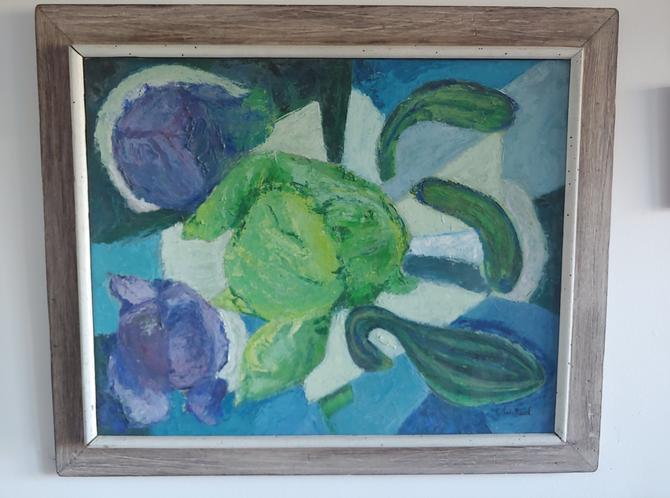 Original Framed Impressionist Still Life EW Reed by ModandOzzie