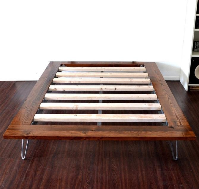 Platform Bed On Hairpin Legs Full Size Minimal Design NEW LOWER PRICING by CasanovaHome