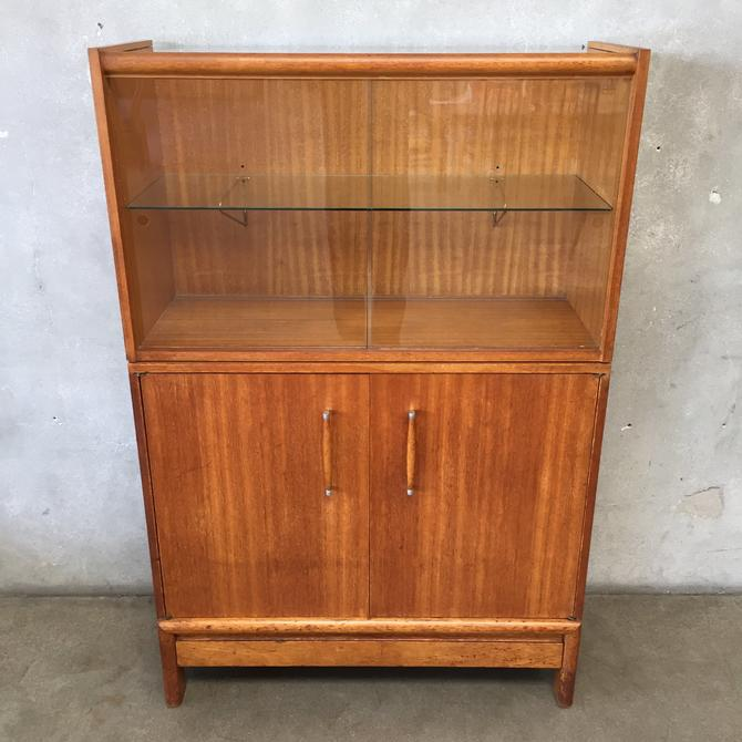 Mid Century Magogany Two Piece Hutch by John Kapel for Brown Saltman
