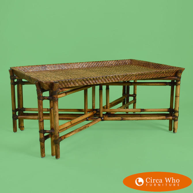 Bamboo Grasscloth Coffee Table