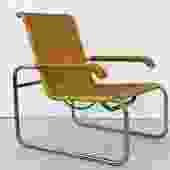 1970s Marcel Breuer B35 Rattan Arm Chair for ICF