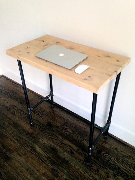 """The """"Edison"""" Reclaimed Wood Standing Desk - Reclaimed Wood & Steel Pipe - Standing Desk - Custom Height by arcandtimber"""