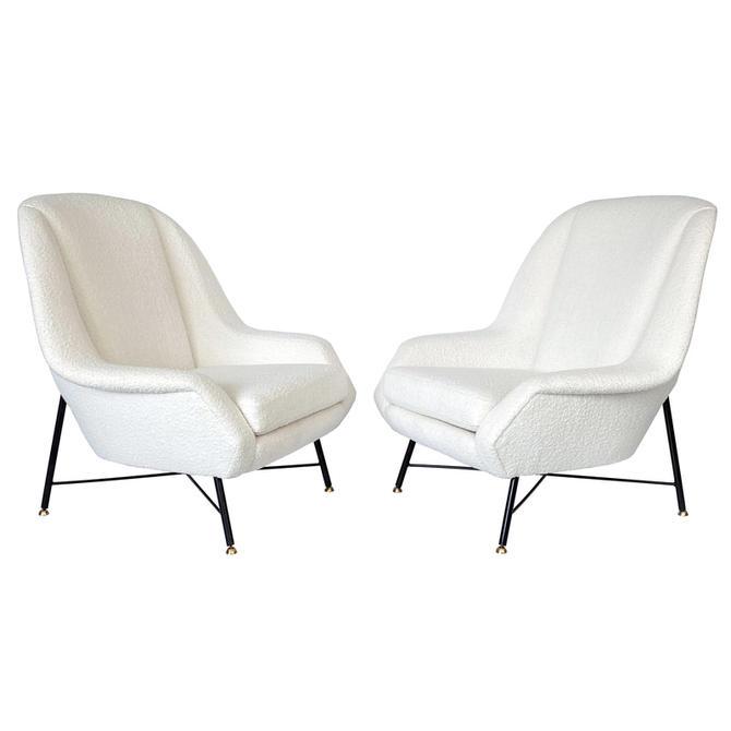 Pair ISA Bergamo Italian Lounge Chairs