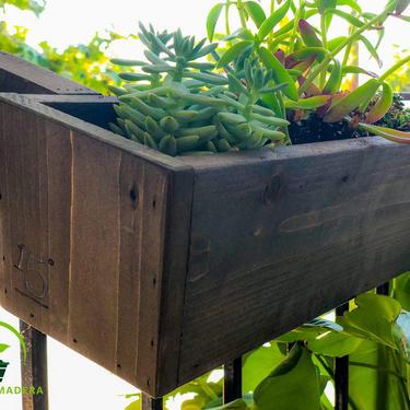 Angled Balcony Planter Box - Dark Stain by ModernMadera