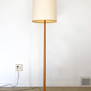 Danish modern wood floor lamp sweden mid century by TripodModern