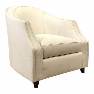 Caracole Modern Seems to Me White Club Chair