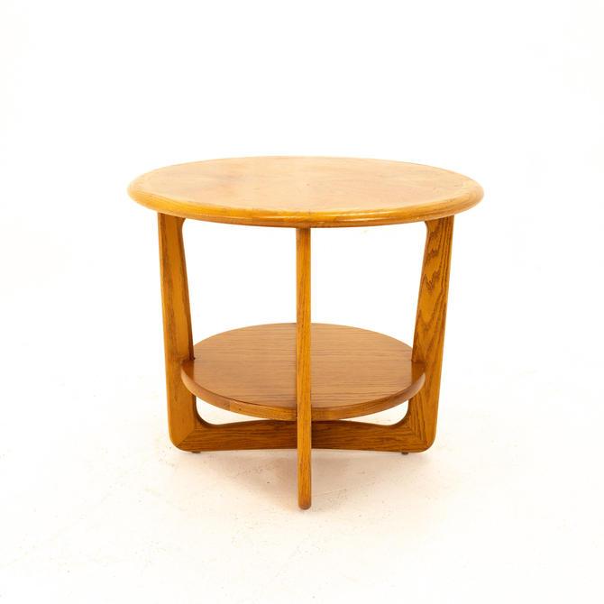 Lane Altavista Mid Century Walnut Round Side End Table - mcm by ModernHill