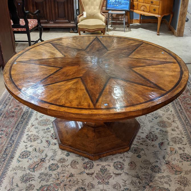 Round Star Top Pedestal Dining Table