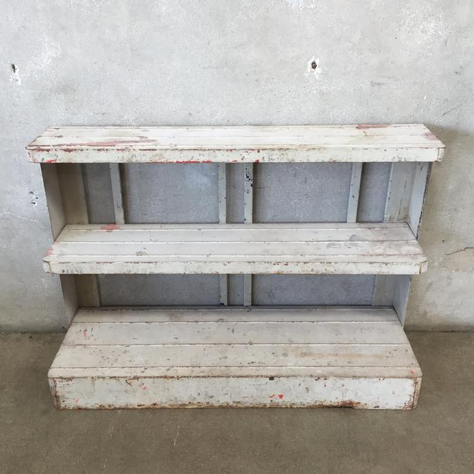 Vintage Metal Plant Rack Shelf