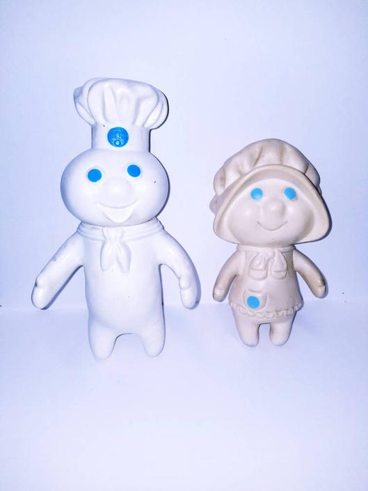 Pair of 1970s Pillsbury rubber figurines made in the USA. by MOBvintage