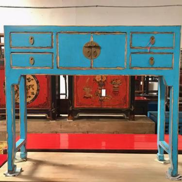 CHINESE Console Table in Lacquered Turquoise Blue #LosAngeles by HouseCandyLA