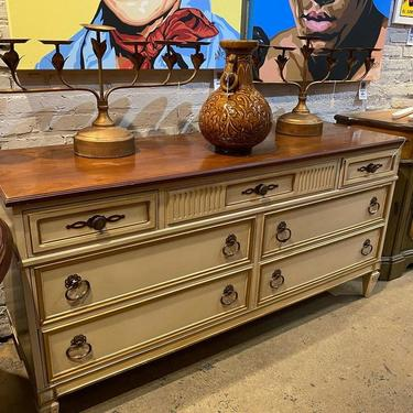 """1970's Italian provincial dresser, not perfect/has some dings (sold as is), 64""""L x 20""""W x 32""""T,"""