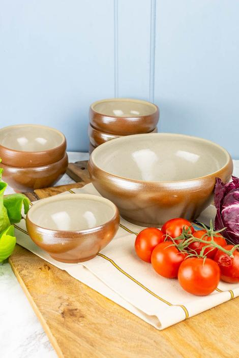 Vintage French Boxed Salad Bowl Set