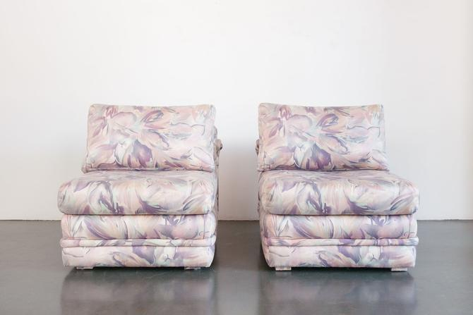 Floral Lounge Chairs by HomesteadSeattle