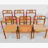 Set of 6 Danish Modern Teak Niels Moller #79 Dining Chairs