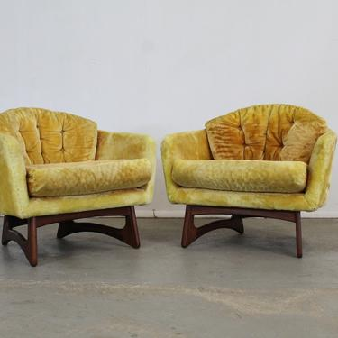 Pair of Mid Century Modern Barrel  Back Club Chairs by Adrian Pearsall for Craft Associates by AnnexMarketplace