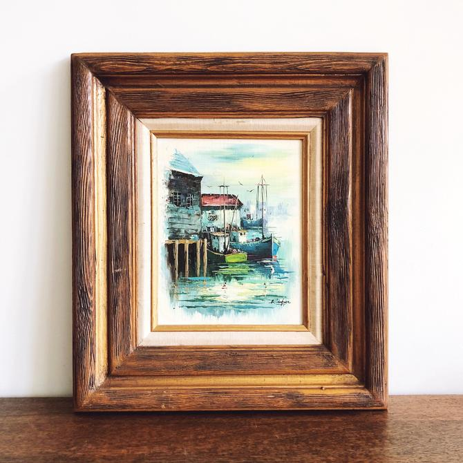 Vintage Nautical A. Simpson Framed Oil Painting by TheDistilleryVintage