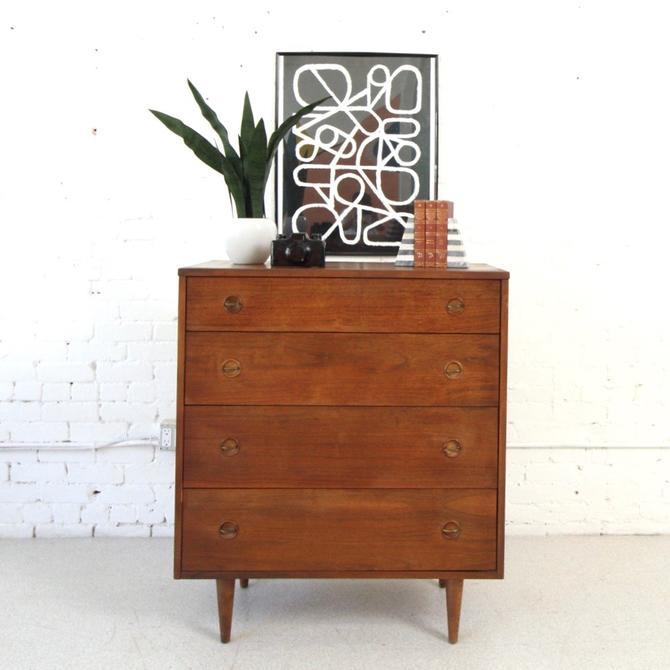 Vintage 4 Drawer Mid Century Highboy Dresser As Found