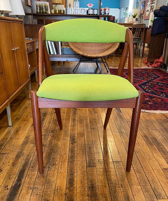 Danish Kai Kristiansen Teak Model 31 Dining\/Desk Chair in new upholstery