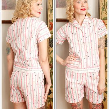 1950s Pajama Set // Lady Berkleigh 2pc Pj Set // vintage 50s pajamas by dethrosevintage