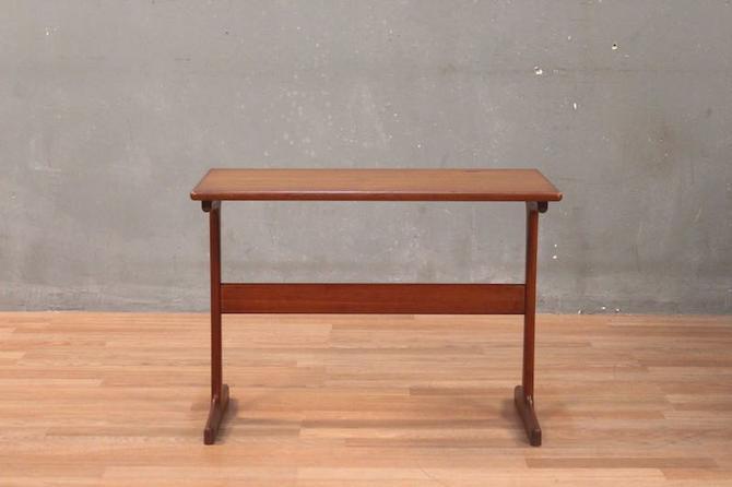 Danish Modern Teak Trestle Side Table – ONLINE ONLY