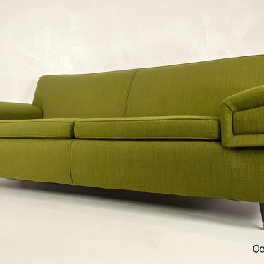 Green Atomic Era Sofa, Circa 1950s - *Please See notes on shipping before you purchase. by CoolCatVintagePA