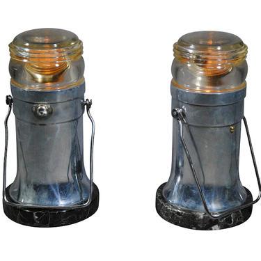 Set of Runway Light Desk Lamps from 1960's