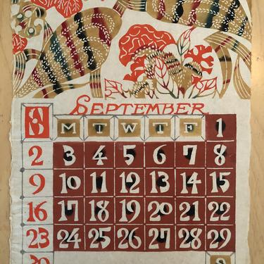 Vintage Japanese Calendar Art 1950's FREE SHIP