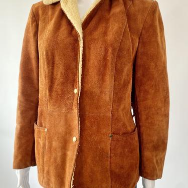 Cognac Suede Pioneer Wear Jacket w/ Shearling Liner