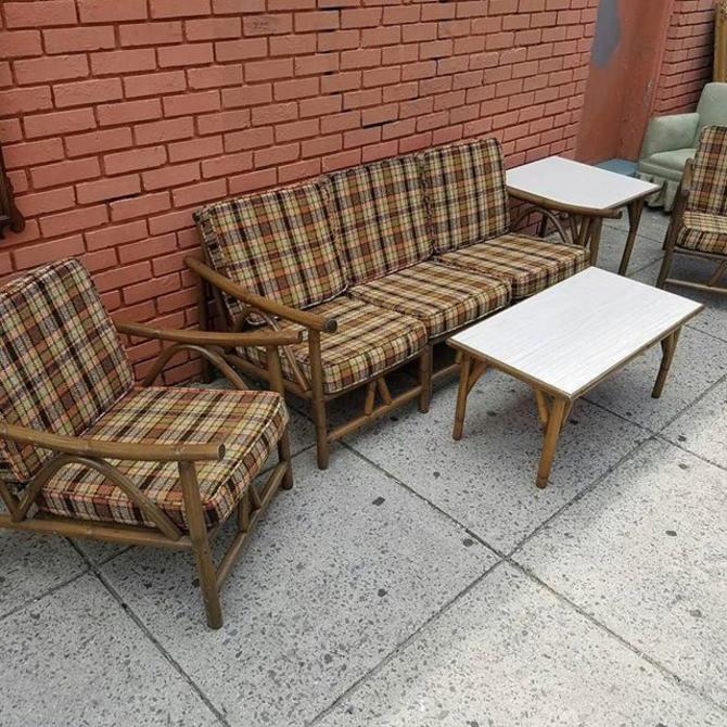 SOLD. Patio Set. Seven pieces, mix and match. $235