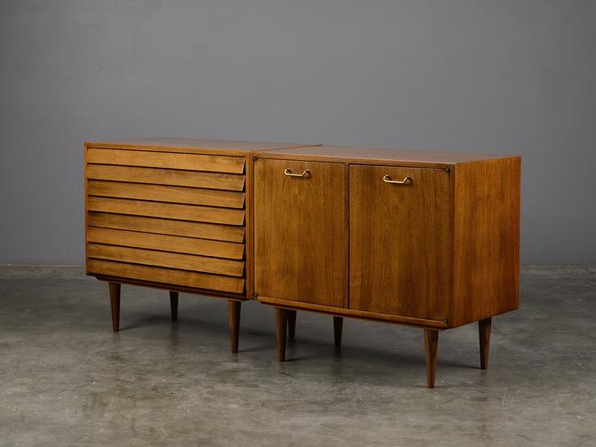 6ft Mid Century Sideboard Credenza Walnut Cabinet Dresser Modern by MadsenModern