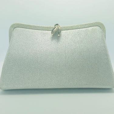 Vintage 1960s Metallic Silver Convertible Clutch by timelesspieces