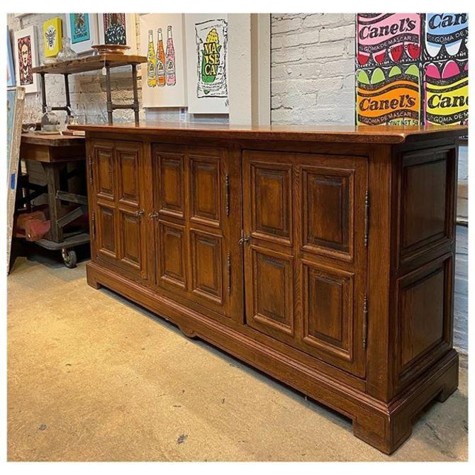 """Solid wood / gorgeous Oak buffet 78"""" long / 20"""" deep / 36"""" tall"""