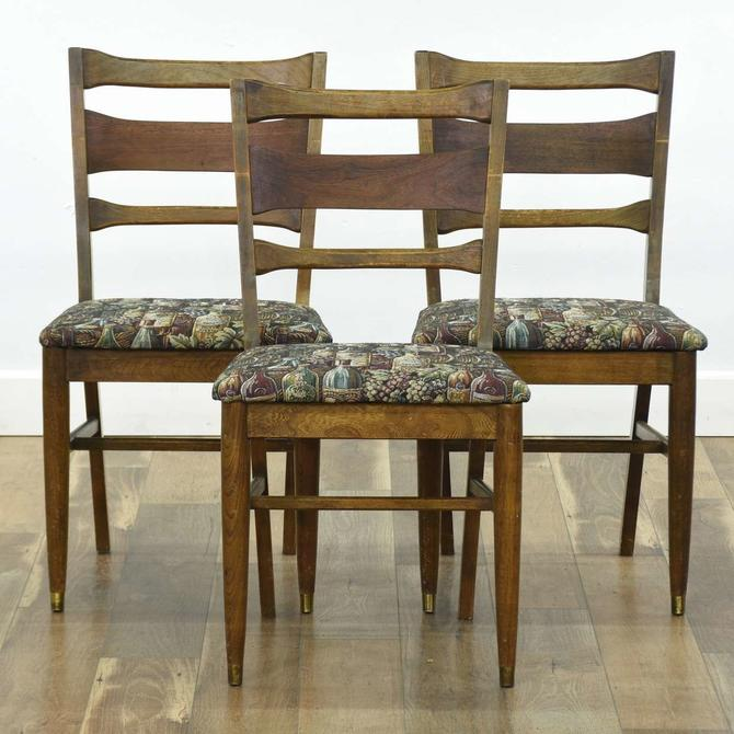 Set Of 3 Mid Century Modern Dining Chairs